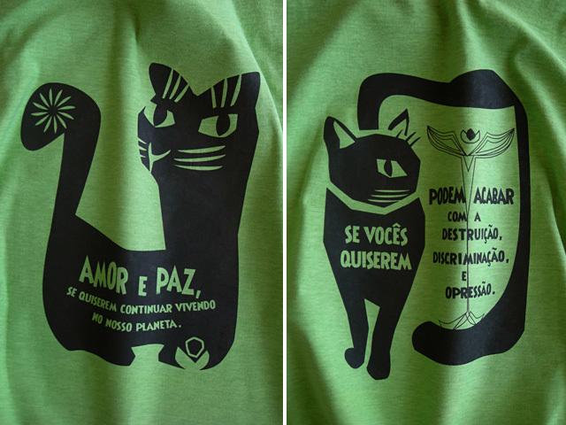 hinolismo迷えるTシャツ-AMOR e PAZ-地球に住み続けるなら愛と平和を