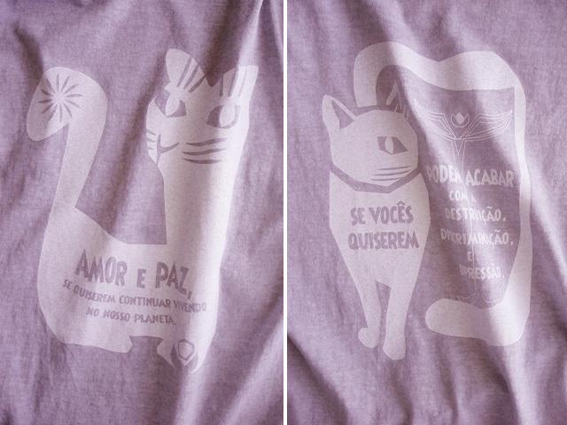 AMOR e PAZ Tシャツ-地球に住み続けるなら愛と平和を-hinolismo-迷えるライラック