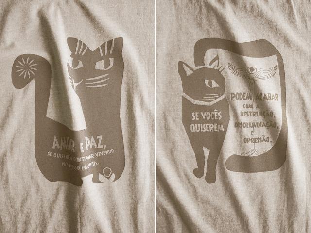 AMOR e PAZ Tシャツ-地球に住み続けるなら愛と平和を-hinolismo-迷えるサンドベージュ