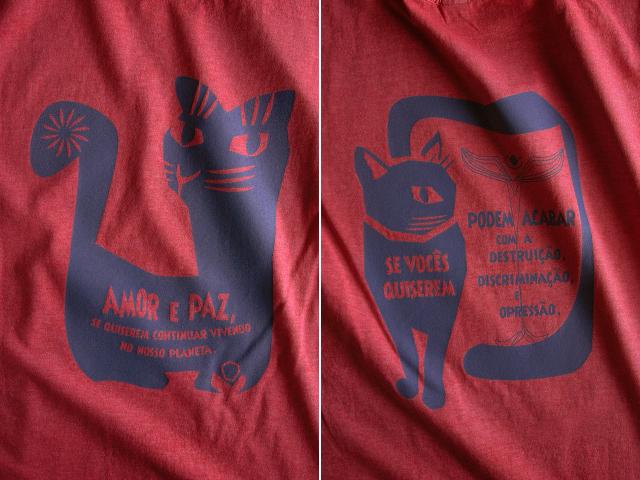 AMOR e PAZ Tシャツ-地球に住み続けるなら愛と平和を-hinolismo-迷えるヴェルメーリョ
