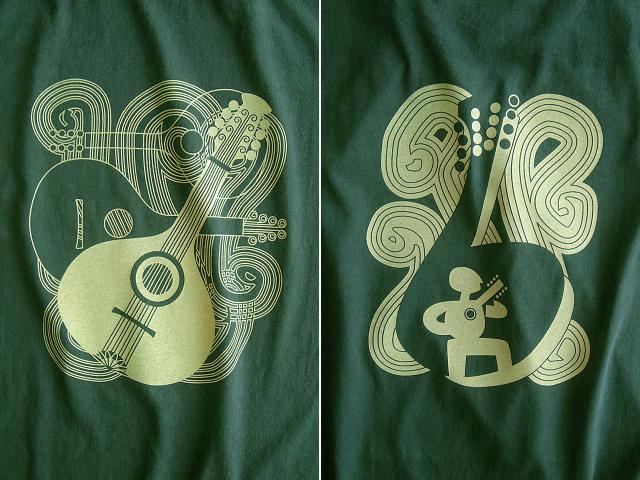 Bandolim(バンドリン)Tシャツ-hinolismo迷えるグリーン