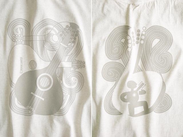 Bandolim(バンドリン)Tシャツ-hinolismo迷えるナチュラル