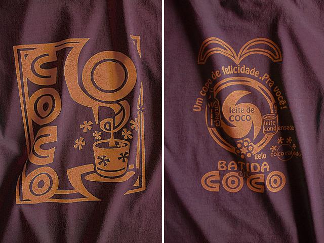 Batida de coco(バチーダ・ヂ・ココ)Tシャツ-hinolismo迷えるボルドー