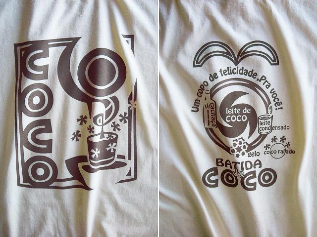 Batida de coco(バチーダ・ヂ・ココ)Tシャツ-hinolismo迷えるナチュラル
