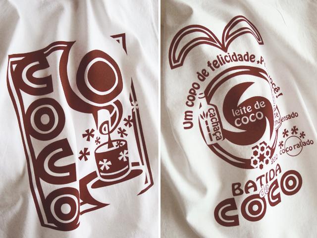 hinolismo迷えるTシャツBatida de coco(バチーダ・ヂ・ココ)