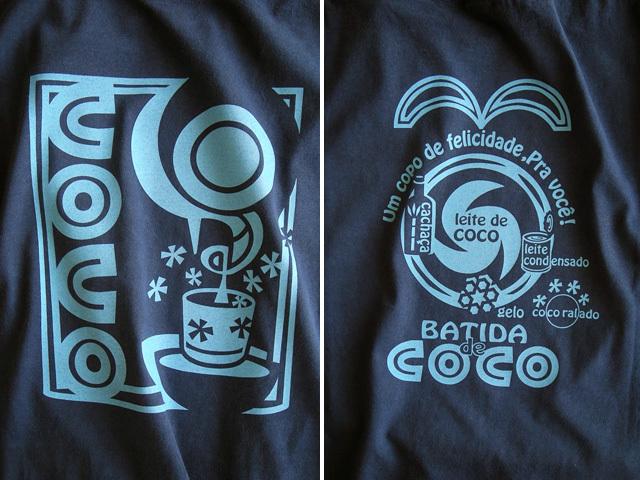 hinolismo迷えるTシャツ-Batida de coco(バチーダ・ヂ・ココ)