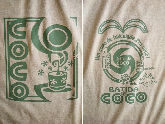 Batida de coco(バチーダ・ヂ・ココ)Tシャツ-hinolismo迷えるサンドベージュ