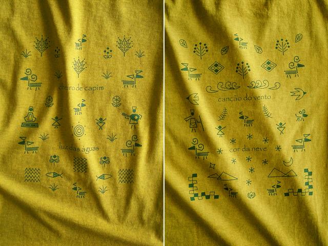 Carneiro(羊)Tシャツ-hinolismo迷えるマスタード