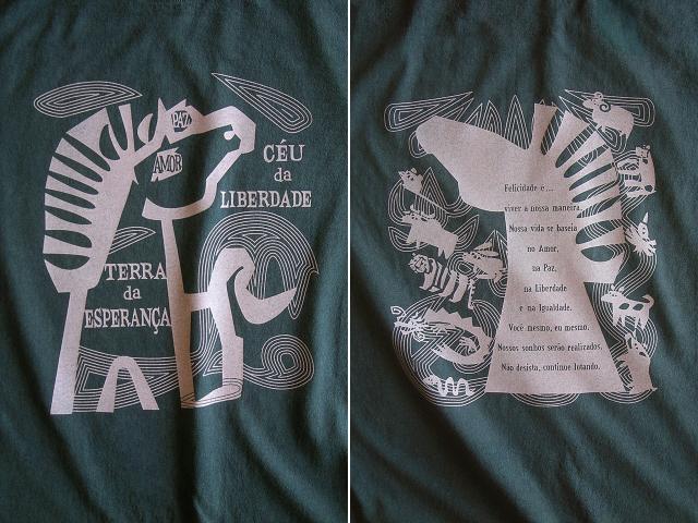 愛と平和と自由と平等のCAVALO(馬)Tシャツ-hinolismo-迷えるアイミドリ