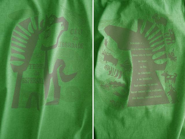 愛と平和と自由と平等のCAVALO(馬)Tシャツ-hinolismo-迷えるライムグリーン