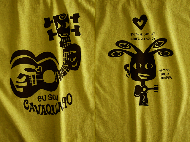 EU SOU CAVAQUINHO(わたしはカヴァキーニョ)Tシャツ-hinolismo迷えるマスタード