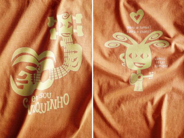 hinolismo迷えるTシャツ-マリゴールド-EU SOU CAVAQUINHO(わたしはカヴァキーニョ)