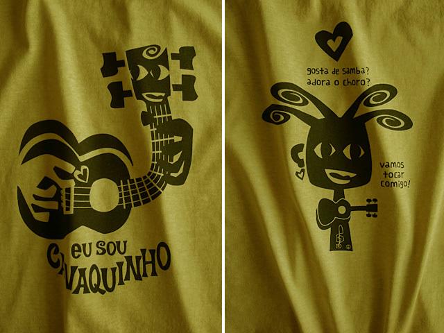 hinolismo迷えるTシャツ-マスタード-EU SOU CAVAQUINHO(わたしはカヴァキーニョ)