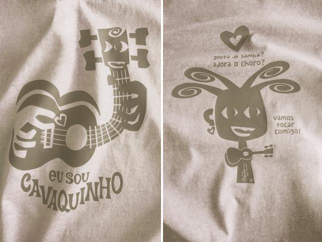 hinolismo迷えるTシャツ-サンドベージュ-EU SOU CAVAQUINHO(わたしはカヴァキーニョ)