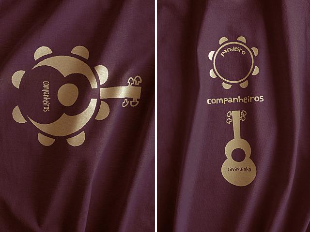 hinolismo迷えるTシャツボルドー-Companheiros(コンパニェイロス)-パンデイロとカバキーニョの関係