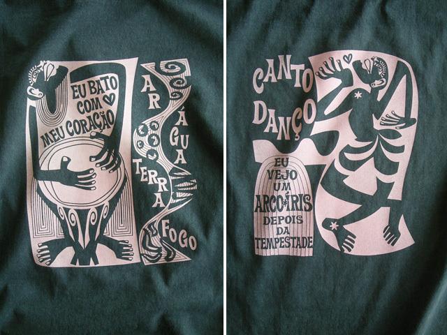 コラサォン(魂)とアルコイリス(虹)Tシャツ-hinolismo-迷えるアイミドリ