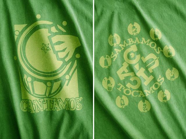 CUÍCA(クイーカ)Tシャツ-hinolismo迷えるライムグリーン