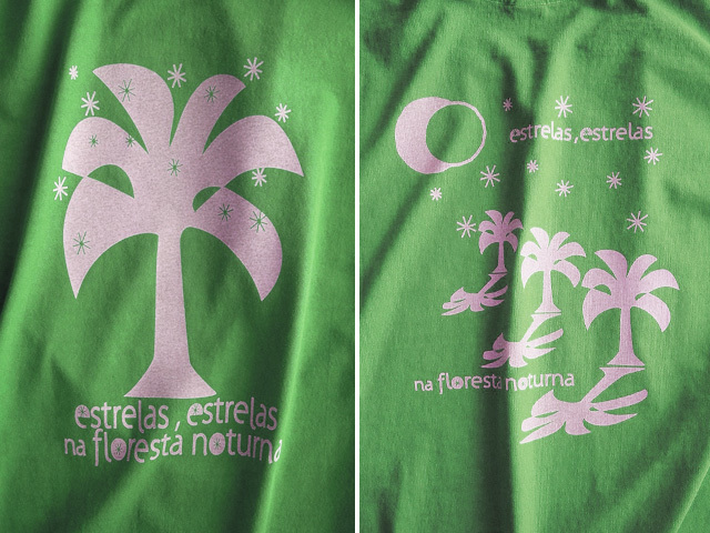 Estrelas(エストレラス)Tシャツ-hinolismo-迷えるライムグリーン