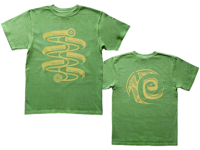 hinolismoヒノリズモ-Serpente-セルペンチ巳年Tシャツ-半袖ライムグリーン