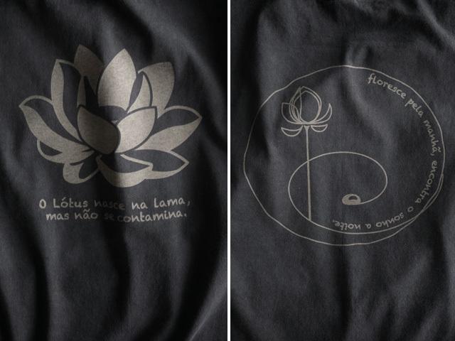 hinolismo迷えるTシャツブラック-Lotus-ロータス、泥より出づるも泥に染まらず