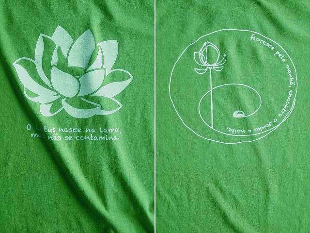ロータス-Lotus-蓮Tシャツ-hinolismo-迷えるライムグリーン