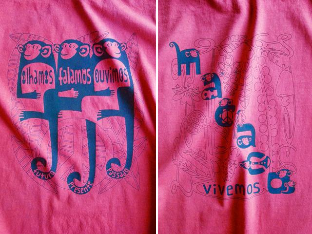MACACO(猿)Tシャツ-hinolismo-迷えるチェリーレッド