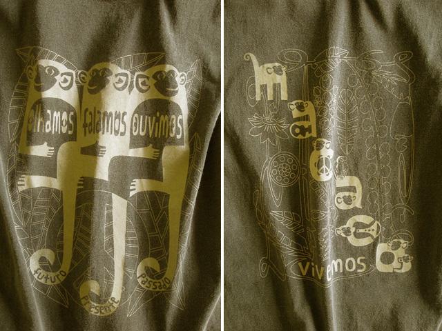 MACACO(猿)Tシャツ-hinolismo-迷えるカーキ