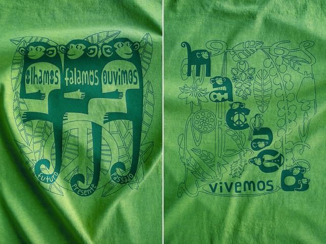 MACACO(猿)Tシャツ-hinolismo-迷えるライムグリーン