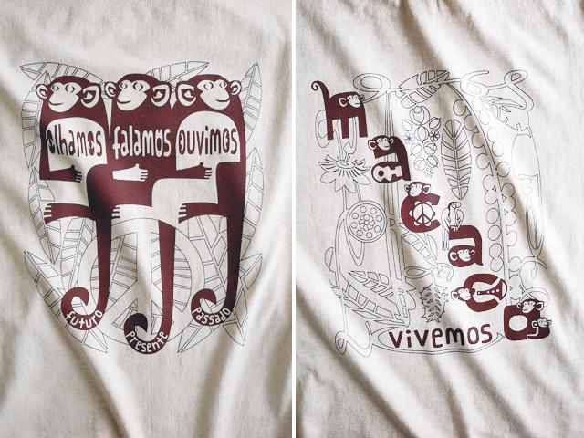 MACACO(猿)Tシャツ-hinolismo-迷えるナチュラル