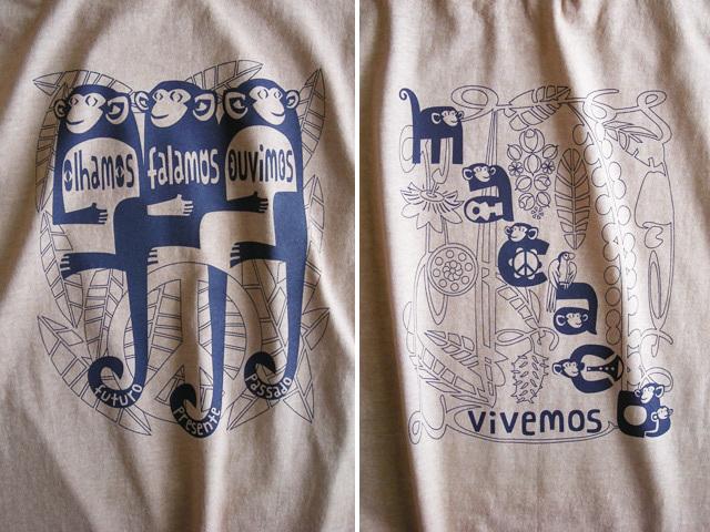 MACACO(猿)Tシャツ-hinolismo-迷えるサンドベージュ