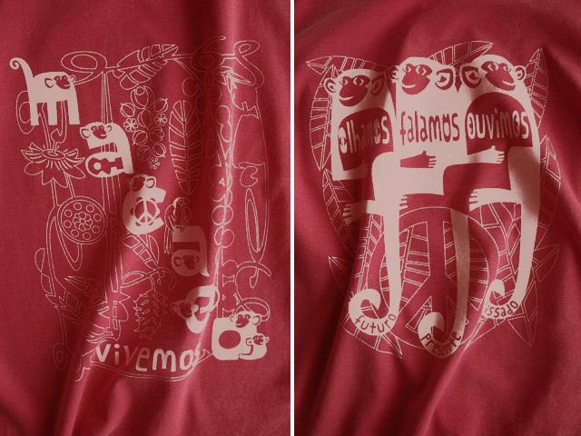 hinolismo迷えるTシャツ-ヴェルメーリョ-MACACO(猿)