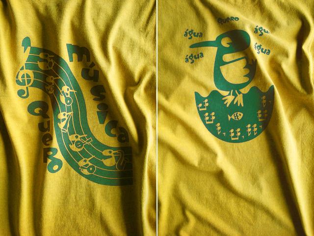 Quero Musica(音楽がほしい)Tシャツ-hinolismo-迷えるマスタード