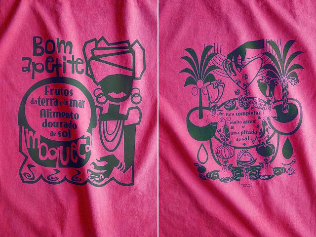 Moqueca(ムケッカ)Tシャツ-hinolismo迷えるチェリーレッド