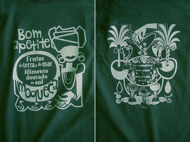 Moqueca(ムケッカ)Tシャツ-hinolismo迷えるグリーン