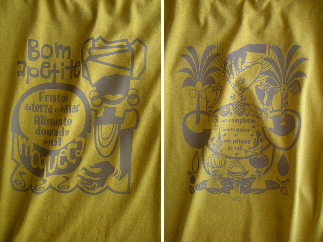 Moqueca(ムケッカ)Tシャツ-hinolismo迷えるマスタード