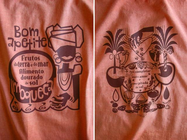 Moqueca(ムケッカ)Tシャツ-hinolismo迷えるオレンジ