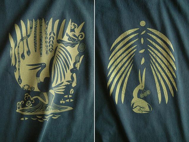 森の細胞Tシャツ-hinolismo-迷えるアイミドリ