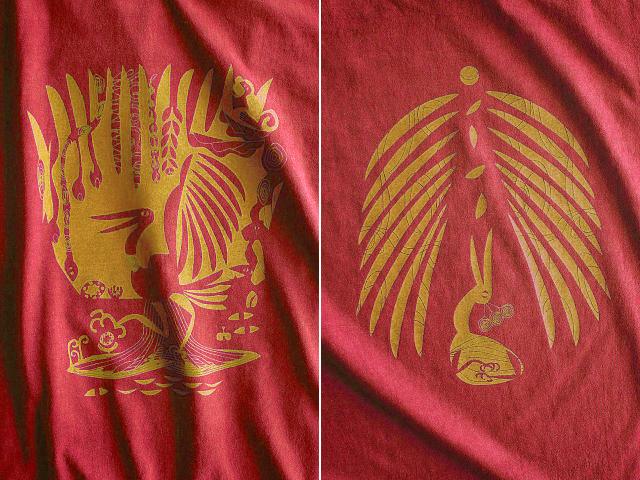 森の細胞Tシャツ-hinolismo-迷えるヴェルメーリョ