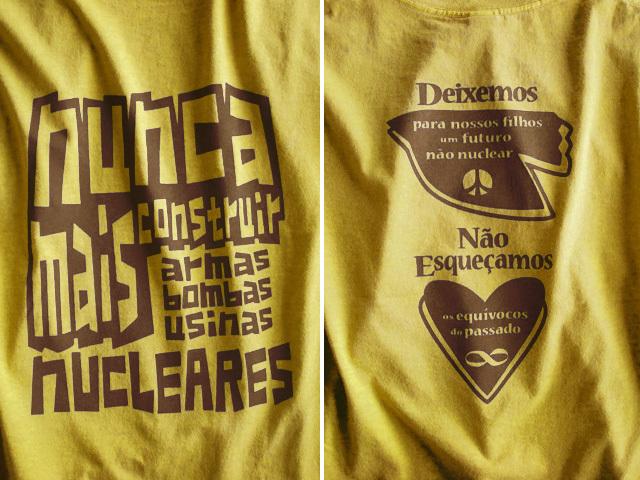 hinolismo迷えるTシャツNUNCA MAIS NUCLEARES-反核