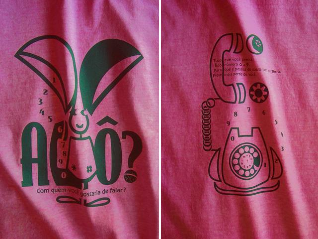 hinolismo-Orelhão(オレリャォン)と黒電話Tシャツ-迷えるチェリーレッド