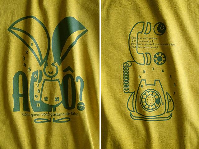 Orelhao(オレリャォン)と黒電話Tシャツ-hinolismo-迷えるマスタード
