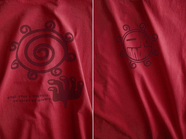 Pandeiro(パンデイロ)Tシャツ-きみはメロディを、わたしがリズムを-hinolismo-迷えるヴェルメーリョ