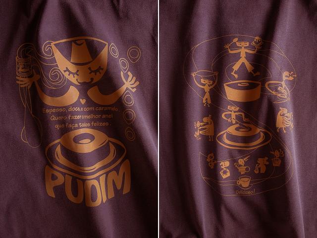 PUDIM(プヂン)-ブラジルプリンTシャツ-hinolismo-迷えるボルドー