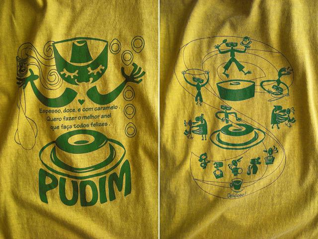 PUDIM(プヂン)-ブラジルプリンTシャツ-hinolismo-迷えるサンドベージュ