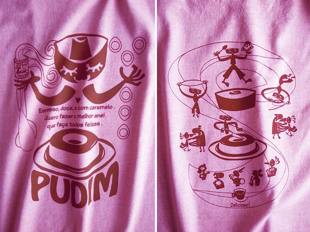 hinolismo迷えるTシャツ-ピンク-PUDIM(プヂン)-ブラジルプリン