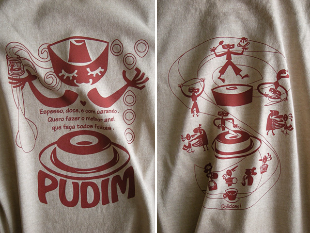 hinolismo迷えるTシャツPUDIM(プヂン)-ブラジルプリン