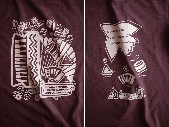 Nordeste(ノルデスチ)Tシャツ-hinolismo-迷えるボルドー