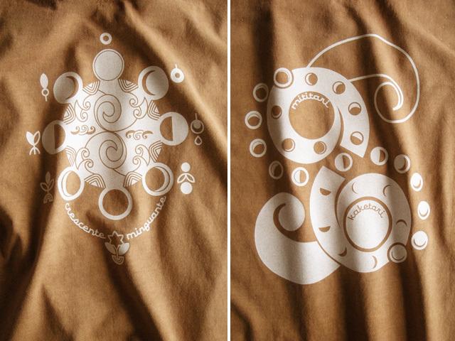 hinolismo迷えるTシャツ-Lua(ルア)月の満ち欠け
