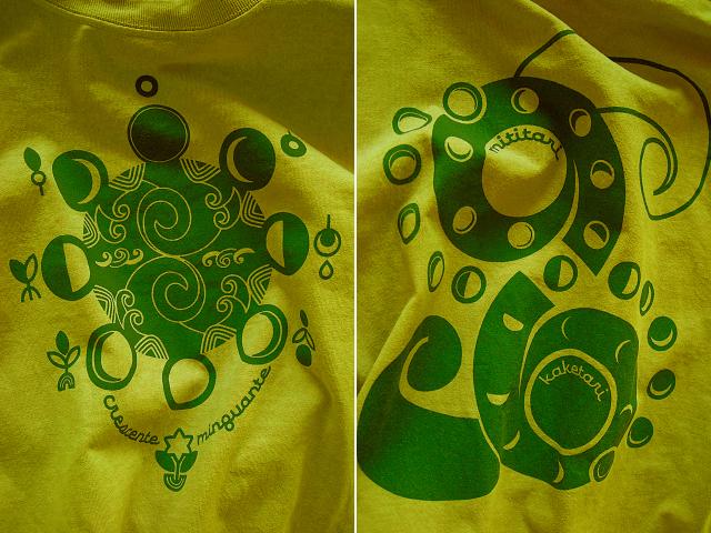 Lua(ルア)-月Tシャツ-満ちたりかけたり-hinolismo迷えるマスタード