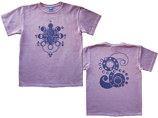 hinolismoヒノリズモ-Lua-月の満ち欠けTシャツ半袖-ライラック-